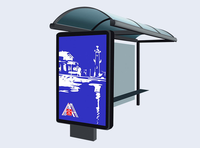 Лайтпостер, совмещенный с павильоном ожидания городского пассажирского транспорта - 1,2 х 1,8 м