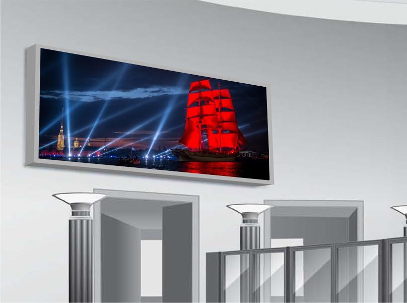 Светодиодный экран  до 10 м2. Крупногабаритный цифровой рекламоноситель, созданный потехнологии светодиодных экранов, с возможностью транслирования динамического изображения.
